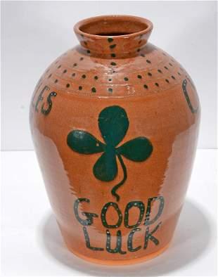 Charles Lisk & Dale Costner. Good Luck Vase.