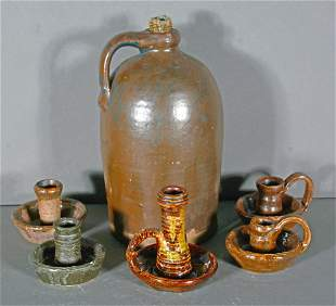 Berry & Rogers. Candle Stick Holders & Jug.