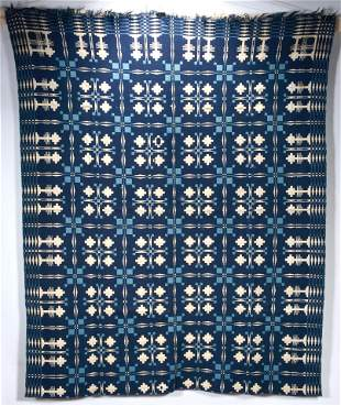 Double-Sided Wool Coverlet.