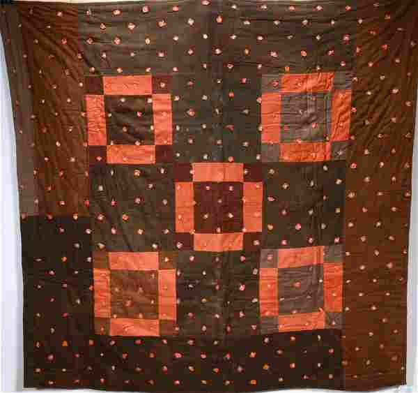 African American. #5 Linsey Woolsey Dice Quilt.