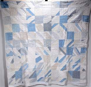 Ice Crystal Pattern Quilt.
