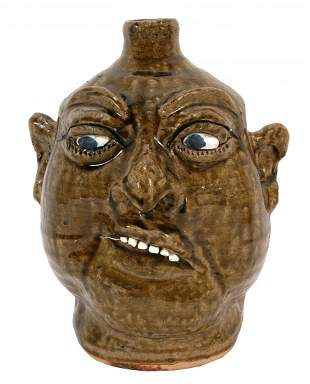 Lanier Meaders. Crooked Smile Face Jug.