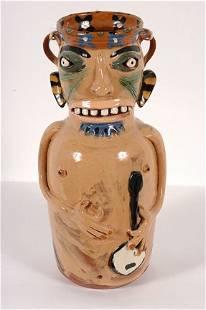 Carl Block. Banjo Player Vase.