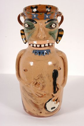 5: Carl Block.  Banjo Player Vase.
