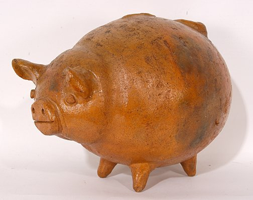 16: Anonymous Folk Pottery Piggy Bank.