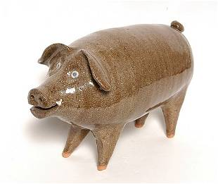 Joe Reinhardt. Folk Pottery Pig.