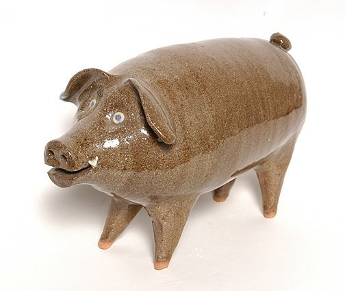 19: Joe Reinhardt. Folk Pottery Pig.