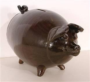 Allen Ham. Folk Pottery Piggy Bank.