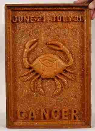 Ulysses Davis, Cancer, June-July, Wood-Relief.