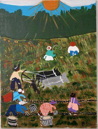 Bernice Sims. Plowing the Fields.