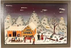 446: Erich Staub. Winter Snow Scene.