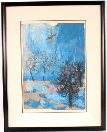 757: Reginald Gee. Soaring Bird Painting.