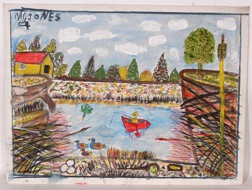 766: M.C. 5¢ Jones. Fishing Painting.