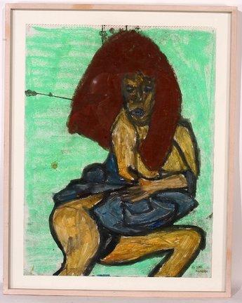 769: Ike Morgan. Study of a Woman Watercolor.