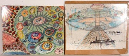773: Ionel Talpazan. Pair of Drawings.