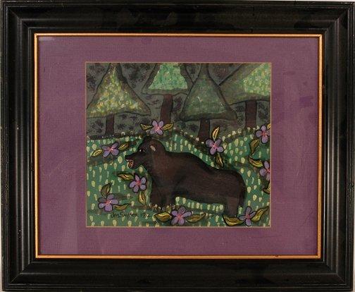 777: Jes Snyder. Black Bear Painting.
