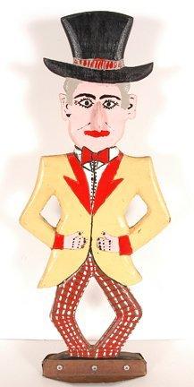 779: Dow Pugh. Circus Man Carving.