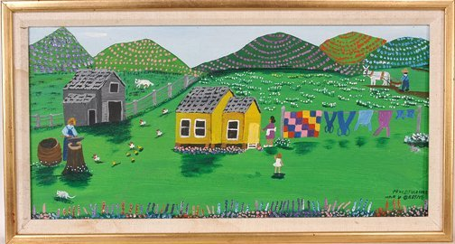 813: Mary Greene. Peaceful Hill Painting.