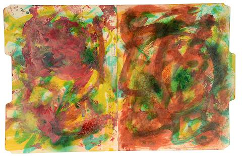William S. Burroughs. Colorful Abstract.