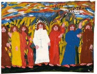 Sister Gertrude Morgan. Jesus With Disciples.