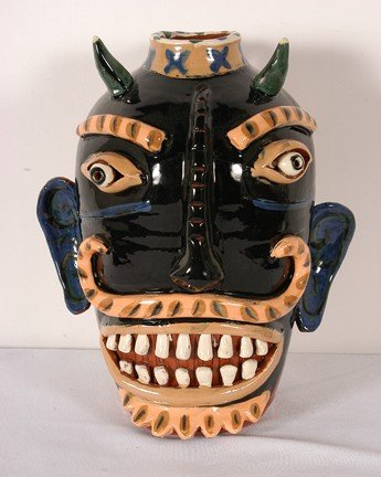11: Flatland Pottery Devil Jug.
