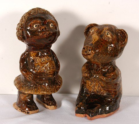 34: Marie Rogers Pottery Doll and Bear.