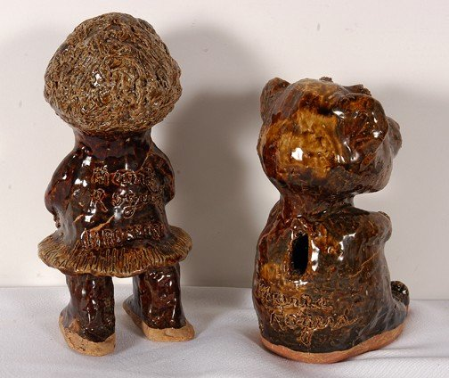 34: Marie Rogers Pottery Doll and Bear. - 2