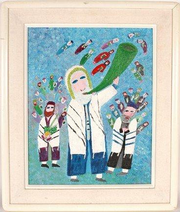 170: Harry Lieberman Blowing the Passover Shofar.
