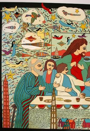 189: Howard Finster Lord's Supper. - 3