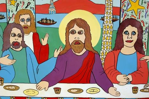189: Howard Finster Lord's Supper. - 5