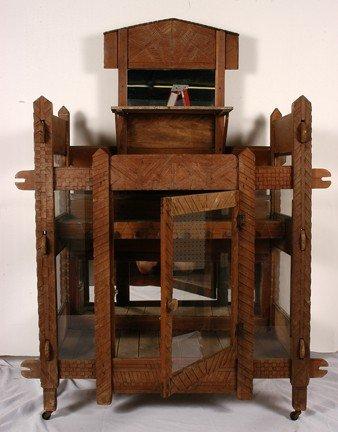 731: African Am. Furniture What-Not Curiosity Self.