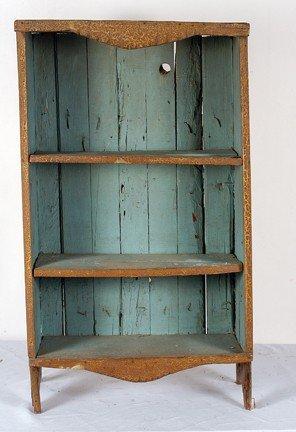 741: Pine-Slat Board Shelves.