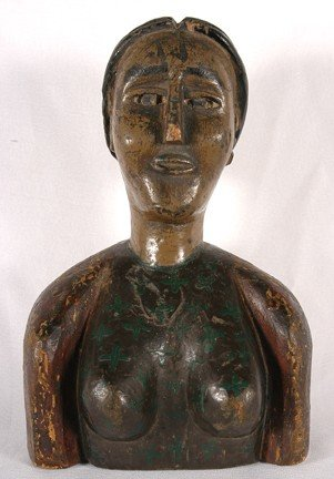 808: Southern Carved Female Bust.