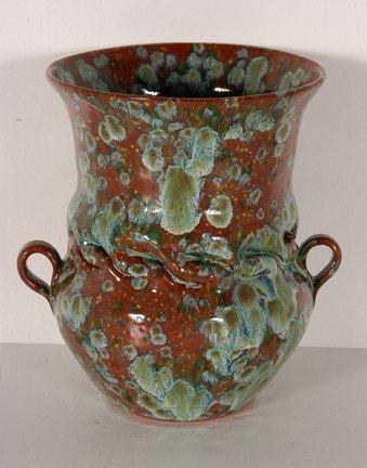 2: Bill Clark - Clark House Pottery Lichen Glaze Vase.
