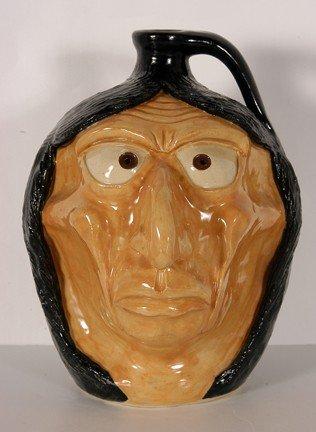 20: Michael Crocker White Face Indian Jug.