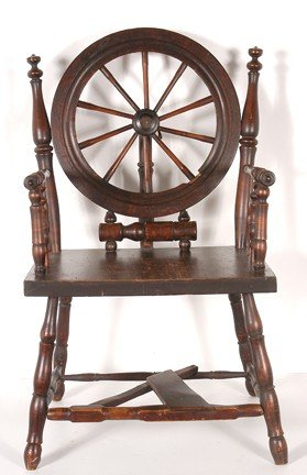 165: Early Spinning Wheel Chair.