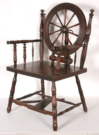 165: Early Spinning Wheel Chair. - 4