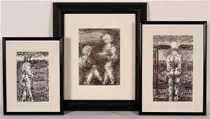489 Malcolm McKesson Three Figure Drawings
