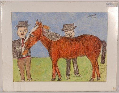734: S.L. Jones Two Men w Horse.