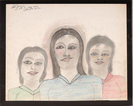 738: S.L. Jones Three Women.