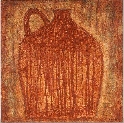 742: Steven Red Mud Chandler Jug Painting.