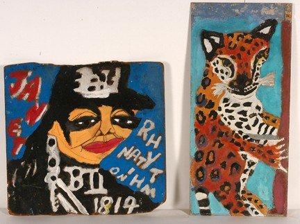 754: Artist Chuckie Pair of Paintings.