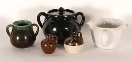 W.J. Gordy. Five Pottery Pieces.