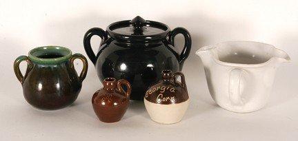 7: W.J. Gordy.  Five Pottery Pieces.