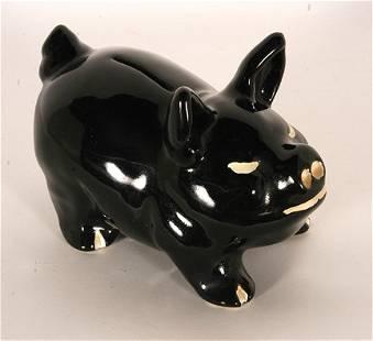 W.J. Gordy. Black Piggy Bank.