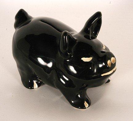 10: W.J. Gordy. Black Piggy Bank.