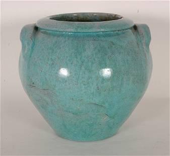 Cole (attrib). Robin Egg Blue Glaze Vase.