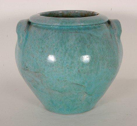 11: Cole (attrib). Robin Egg Blue Glaze Vase.