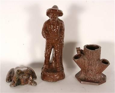 Sewer Tile. Frog, Man & Tree Stump.