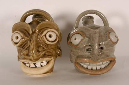 Michel Bayne. Edgefield Inspired Face Jugs.